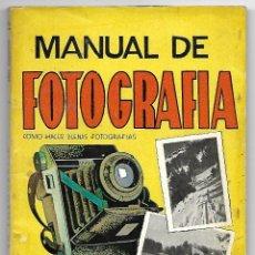 Libros de segunda mano: MANUAL DE FOTOGRAFIA, EDITORIAL CISNE. ABEL ESQUIROZ, AÑOS 50. Lote 118273423