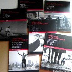 Libros de segunda mano: LOTE LIBROS MAESTROS DE LA FOTOGRAFÍA ROBERT CAPA CENTELLES ERWITT CARTIER-BRESSON EVE ARNOLD ARTE. Lote 120957547