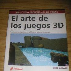 Libros de segunda mano: EL ARTE DE LOS JUEGOS 3D (LUKE AHEARN) DISEÑO GRÁFICO - INCLUYE CD-ROM. Lote 124684403