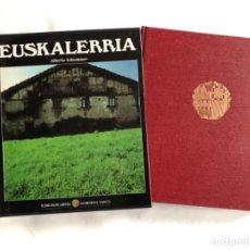 Libros de segunda mano: EUSKALERRIA POR ALBERTO SCHOMMER. ED. GOBIERNO VASCO, 1987.. Lote 125306095