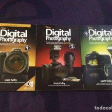 Libros de segunda mano: SCOTT KELBY. DIGITAL PHOTOGRAPHY. 3 VOLUMES. 1ª EDICIÓN ORIGINAL INGLESA 2006-2010. PEACHPIT PRESS.. Lote 125974868