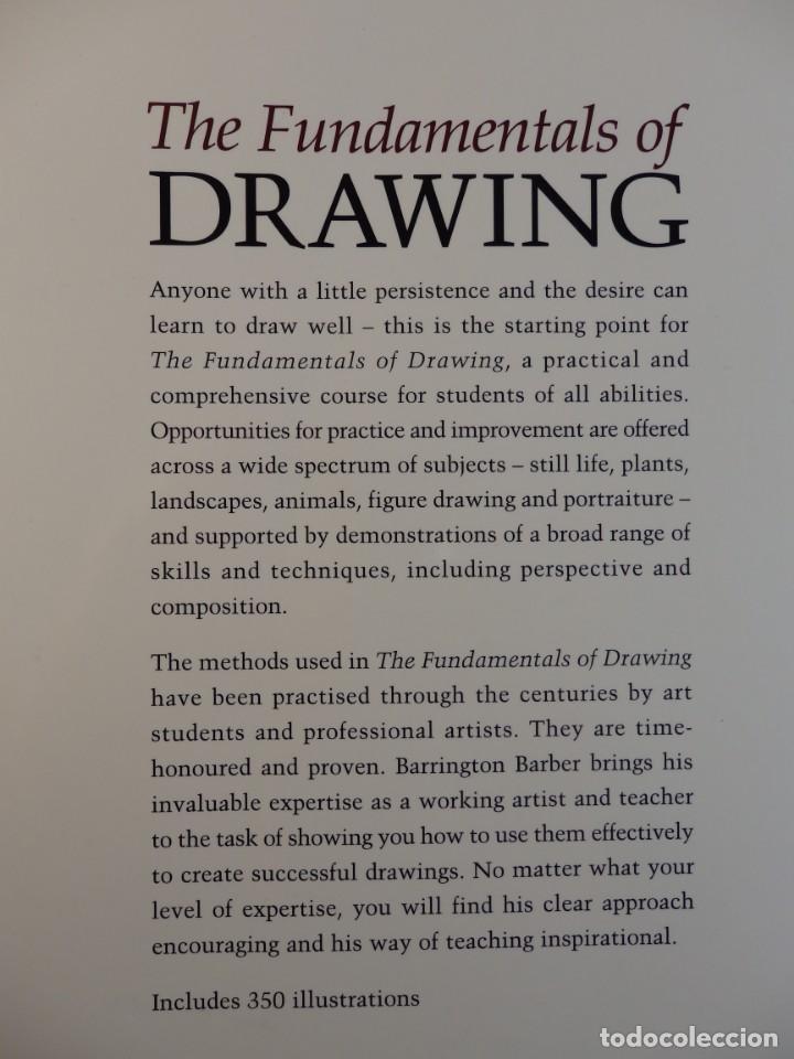 Libros de segunda mano: THE FUNDAMENTALS OF DRAWING. BARRINGTON BARBER. CURSO DE DIBUJO PROFESIONAL. TEXTO EN INGLÉS - Foto 2 - 132002606