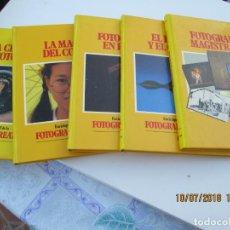 Libros de segunda mano: ENCICLOPEDIA SALVAT DE LA FOTOGRAFIA CREATIVA - FOTOGRAFIAS MAGISTRALES Y TOMOS 1,2,3,4 . Lote 137666378