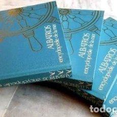 Libros de segunda mano: ALBATROS ENCICLOPEDIA DEL MAR 4 TOMOS CIESA 1978 TAPA DURA 27 X 25 CM EN FRANCES. Lote 140318906