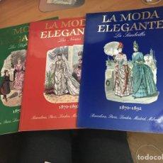 Libros de segunda mano: LA MODA ELEGANTE 1870 - 1892 : LAS NOVIAS / LA SOMBRILLA / LOS DISFRACES. GRAN FORMATO (LB35). Lote 141255738