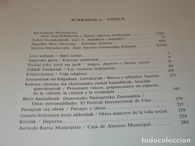 Libros de segunda mano: ARGAZKIAK ( GIPUZKOA-DONOSTIA). FOTOGRAFÍAS (1951-1960).TOMO IV. CAJA DE AHORROS MUNICIPAL. 1989. - Foto 4 - 143397718