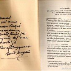 Libros de segunda mano: BIBLIOFILOS,ENCUADERNACION TRADICIONAL,DEL MAESTRO ENCUADERNADOR EMILIO BRUGALLA,FIRMADO Y DEDICADO. Lote 147678334