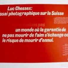Libros de segunda mano: L-3915 LUC CHESSEX: ESSAI PHOTOGRAPHIQUE SUR LA SUISSE. ED LUTZ.MEDIADOS DE SIGLO XX. Lote 149310250