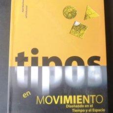 Libros de segunda mano: TIPOS EN MOVIMIENTO DISEÑANDO EN EL TIEMPO Y EL ESPACIO IMPECABLE MATT WOOLMAN JEFF BELLANTONI 2000. Lote 150559350