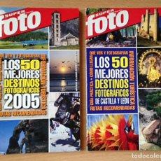 Libros de segunda mano: FOTOGRAFIA - LOS MEJORES DESTINOS FOTOGRAFICOS - SUPERFOTO - 2 EJEMPLARES. Lote 150827706