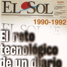 Libros de segunda mano: EL RETO TECNOLÓGICO DE UN DIARIO DE DISEÑO : EL SOL (1990-1992) / PEDRO PÉREZ CUADRADO. Lote 151108710