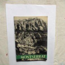 Libros de segunda mano: MONSERRAT ABADIA DE MONSERRAT 1961 ( CON 108 FOTOS EN BLANCO Y NEGRO ). Lote 152467738