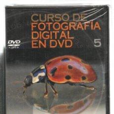 Libros de segunda mano: CURSO DE FOTOGRAFÍA DIGITAL EN DVD. Nº 5. PRECINTADO SIN USO. PLANETA. (P/C36). Lote 152685206