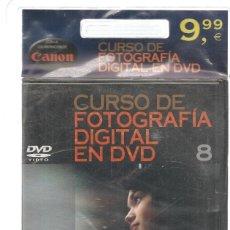 Libros de segunda mano: CURSO DE FOTOGRAFÍA DIGITAL EN DVD. Nº 8. PRECINTADO SIN USO. PLANETA. (P/C36). Lote 152685930