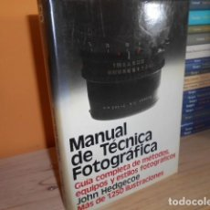 Libros de segunda mano - MANUAL DE TECNICA FOTOGRAFICA / JOHN HEDGECOE - 153821234