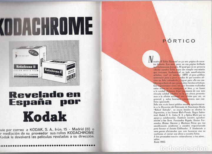 Libros de segunda mano: II salón nacional de fotografia. Organizado por la agrupación fotográfica isleña.San Fernando.Cádiz. - Foto 2 - 153958082