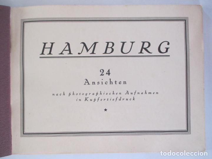 Libros de segunda mano: HAMBURG 24 ANSICHTEN. NACH PHOTOGRAPHISCHEN AUFNAHMEN IN KUPFERTIEFDRUCK. - Foto 2 - 158910210