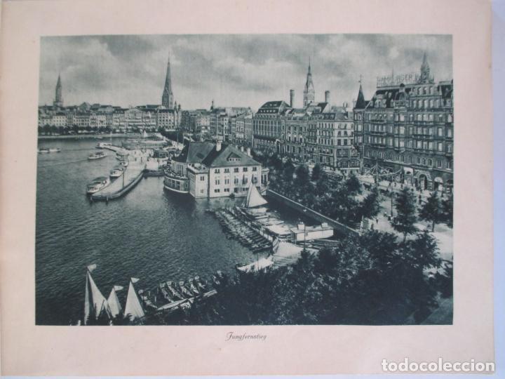 Libros de segunda mano: HAMBURG 24 ANSICHTEN. NACH PHOTOGRAPHISCHEN AUFNAHMEN IN KUPFERTIEFDRUCK. - Foto 3 - 158910210