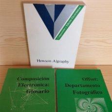 Libros de segunda mano: LOTE LIBROS ARTES GRÁFICAS: OFFSET, COMPOSICIÓN-EDICIÓN ELECTRÓNICAS, GLOSARIOS - IMPRENTA, DISEÑO. Lote 161012442