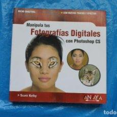 Libros de segunda mano: MANIPULA TUS FOTOGRAFIAS DIGITALES CON PHOTOSHOP CS, ANAYA MULTIMEDIA2004. Lote 162429838