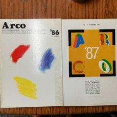 Libros de segunda mano: DOS LIBROS FERIA DE ARTE CONTEMPORÁNEO. ARCO, MADRID. EDICIÓN. 1986 Y 1987.. Lote 168586056