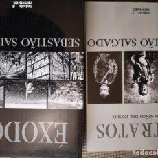 Libros de segunda mano: EXODOS SEBASTIÁO SALGADO +RETRATO DE LOS NIÑOS DEL EXODOS. Lote 168932812