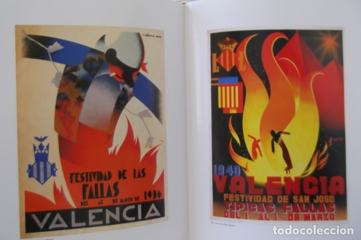 = LOS CARTELES DE LAS FALLAS EN VALENCIA , AÑOS 1929- 1999 = (Libros de Segunda Mano - Bellas artes, ocio y coleccionismo - Diseño y Fotografía)