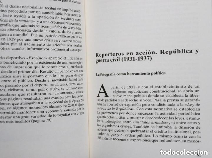 Libros de segunda mano: FOTOPERIODISMO EN BIZKAIA (1900 - 1937) - Foto 5 - 175835977