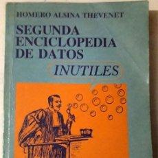 Libros de segunda mano: SEGUNDA ENCICLOPEDIA DE DATOS. Lote 175945880