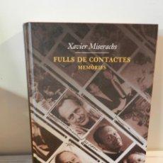 Libri di seconda mano: FULLS DE CONTACTES.: MEMÒRIES TAPA DURA 2016 DE XAVIER MISERACHS LIBRO FOTOGRAFÍA. Lote 178008244