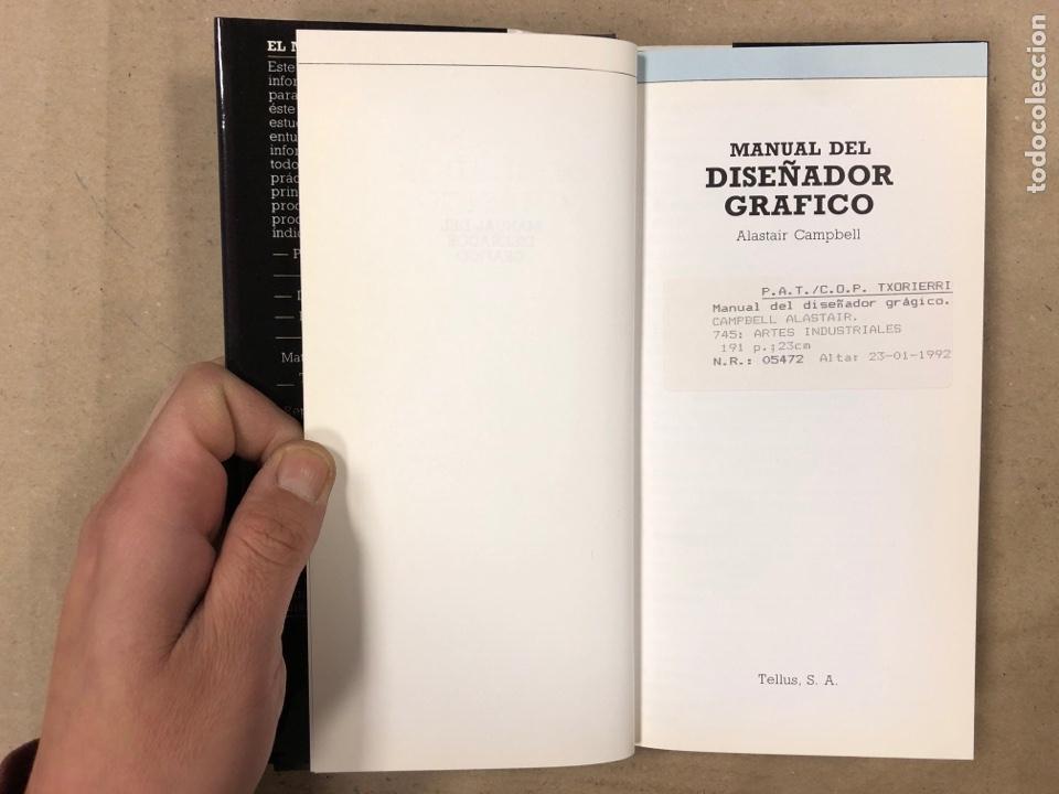 Libros de segunda mano: MANUAL DEL DISEÑADOR GRÁFICO. ALASTAIR CAMPBELL. EDITA: TELLUS 1989. ILUSTRADO - Foto 3 - 180429263