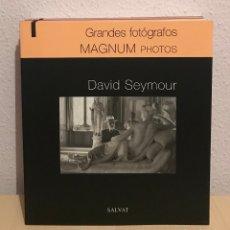 Libros de segunda mano: GRANDES FOTOGRAFOS. DAVID SEYMOUR - 0390. Lote 182220843