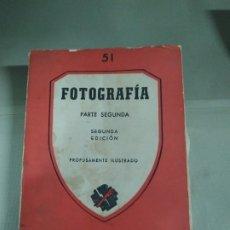 Libros de segunda mano: FOTOGRAFÍA. PARTE SEGUNDA. IMPRESO EN ARGENTINA. RARO. Lote 183232400