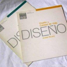 Libros de segunda mano: DISEÑO Y ESTRATEGIA DE PRODUCTO + DISEÑO Y CALIDAD DE VIDA, J. MONTAÑA Y A. RICARD. Lote 195333243