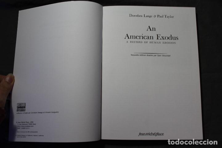 Libros de segunda mano: AN AMERICAN EXODUS.A RECORD OF HUMAN EROSION. DOROTHEA LANGE & PAUL TAYLOR.TEXTO EN INGLÉS Y FRANCÉS - Foto 4 - 195333720