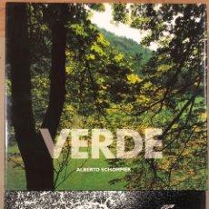 Libros de segunda mano: ALBERTO SCHOMMER. LOTE 2 LIBROS: ITSASOA Y VERDE. EDITADO FUNDACIÓN KUTXA.. Lote 196749080