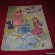Libros de segunda mano: MUY INTERESANTE REVISTA DE MODA INFANTIL.AÑO 1945 . Lote 198044118