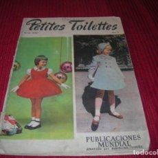 Libros de segunda mano: ANTIGUO FIGURÍN DE MODA INFANTIL.PETITES TOILETTES. Lote 198718546
