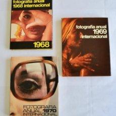 Libros de segunda mano: LOTE DE 3 ANUARIOS FOTOGRÁFICOS. FOTOGRAFÍA ANUAL INTERNACIONAL. FOUNTAIN PRESS. 1968,1969 Y 1970. Lote 200290536