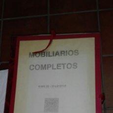Libros de segunda mano: EL MOBILIARIO COMPLETO 25 LAMINAS. Lote 201670162