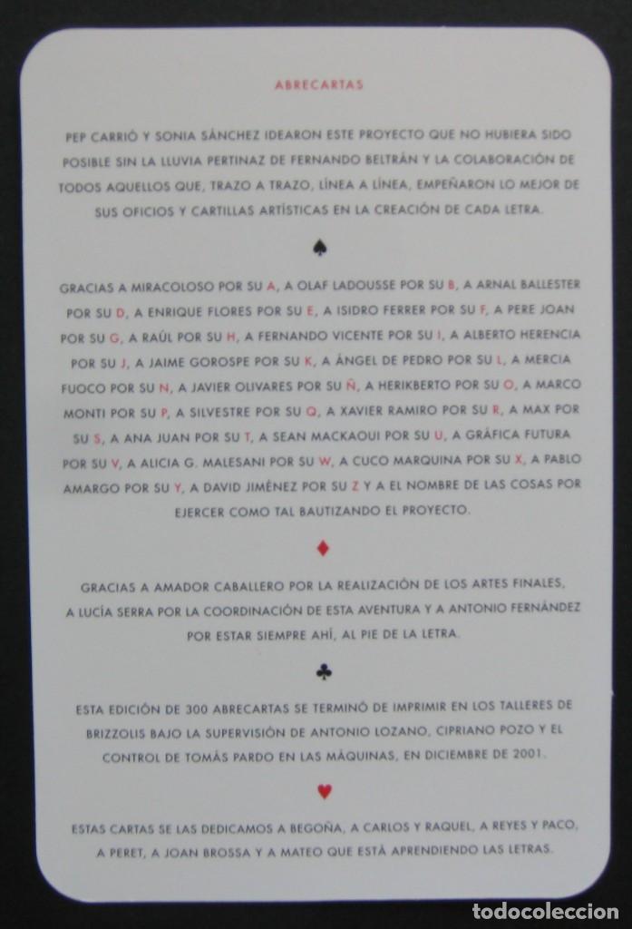 Libros de segunda mano: Abrecartas – Pep Carrió, Sonia Sánchez y otros – 2001 - Foto 3 - 206591798