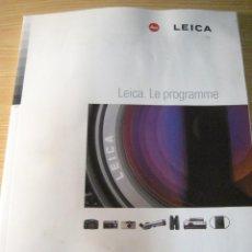 Libros de segunda mano: CATALOGO LIBRO CAMARAS LEICA - 1998 128 PAGINAS , NUMEROSAS FOTOS, ESPECIFICACIONES.. EN FRANCÉS. Lote 206593447