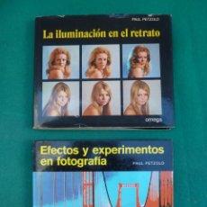 Libros de segunda mano: LA ILUMINACION EN EL RETRATO Y EFECTOS Y EXPERIMENTOS EN FOTOGRAFIAS...EDITORIAL OMEGA..AÑOS 70... Lote 208731213