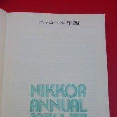 Libros de segunda mano: NIKKOR ANNUAL 1976/1977...LAS MEJORES FOTOS DEL MUNDO, PATROCINADA POR NIKON.. Lote 208736321