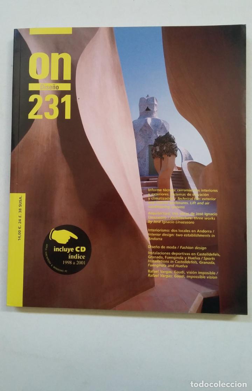 REVISTA ON DISEÑO. Nº 231. TRES OBRAS DE JOSE IGNACIO LINAZASORO. TDK370 (Libros de Segunda Mano - Bellas artes, ocio y coleccionismo - Diseño y Fotografía)