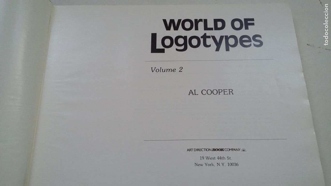 Libros de segunda mano: WORLD OF LOGOTYPES. MUNDO DE LOGOTIPOS. VOL. VOLUMEN 2. AL COOPER. ART DIRECTION BOOK. TDK322C - Foto 3 - 210223908