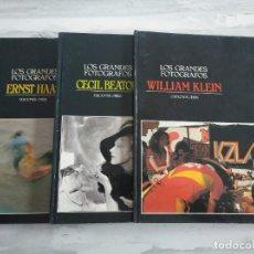 Libros de segunda mano: LOS GRANDES FOTÓGRAFOS: ERNST HAAS, WILLIAM KLEIN, CECIL BEATON (TOMOS 2-3-4) - EDICIONES ORBIS. Lote 212119632