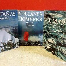 Libros de segunda mano: 3 LIBROS DE FOTOGRAFÍAS DE LUNWERG: VOLCANES Y HOMBRES, EL MAR, MONTAÑAS DEL MUNDO. Lote 212641958