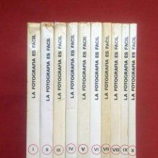 Libros de segunda mano: LA FOTOGRAFÍA ES FÁCIL - EDICIONES AFHA - COMPLETA - 10 VOLÚMENES. Lote 214153882