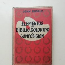 Libros de segunda mano: ELEMENTOS DE DIBUJO, COLORIDO Y COMPOSICIÓN. Lote 214589962